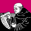 Monk in the scriptorium